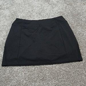 🔥 Tangerine Skort Skirt with Shorts Black